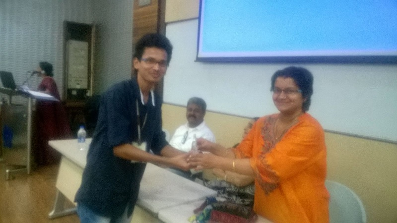 Mr. Chiranjeev receiving a prize