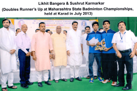 International Badminton players with CM.