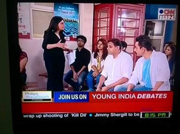 Students of Politics at the Young India Debates on CNN-IBN